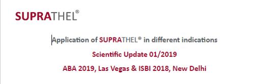 Suprathel : update scientifique suite à ABA 2019 et ISBI 2018